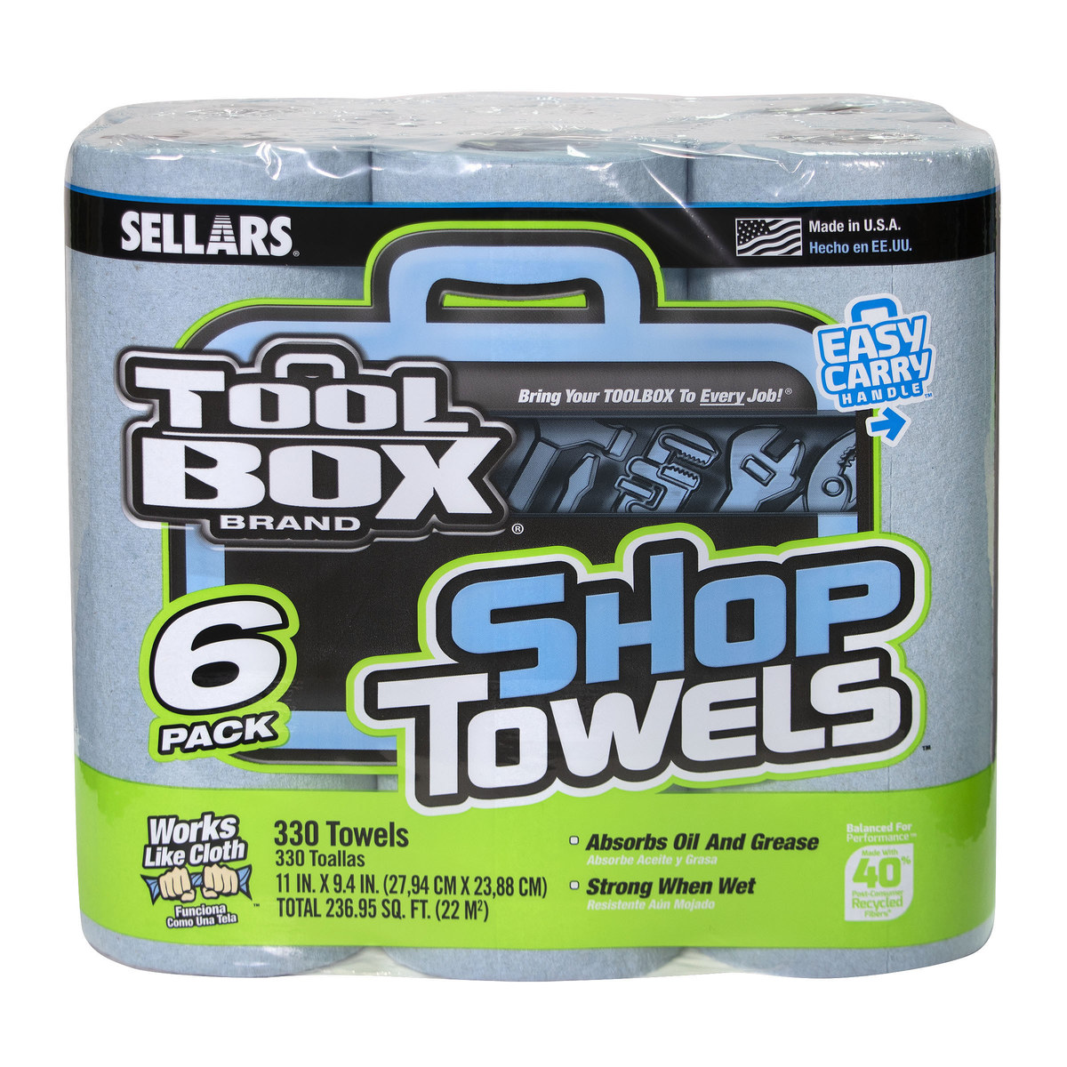 Painters Towels Lot of 4 Boxes SELLARS ToolBox 800 Sheets Multi-Purpose Rags