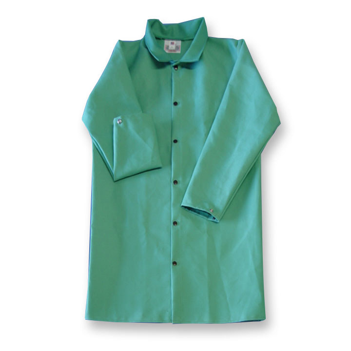 4bdaf128c410 Chicago Protective Apparel Green Small FR-7A Cotton Proban Welding Coat -  50 in Length - 603-GR SM