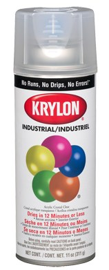 Krylon 5-Ball Paint K01301, Gloss Crystal Clear, 16 oz