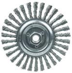 Weiler Steel Wheel Brush 0.023 in Bristle Diameter - Arbor Attachment - 6 in Outside Diameter - 09386