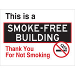Brady B-959 Aluminum Rectangle Black / White No Smoking Sign - 115628