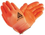 Ansell ActivArmr Hi-Viz 97-012 Orange 9 Nylon/Spandex Work Gloves - Straight Thumb - Nitrile Full Coverage Coating - 113992