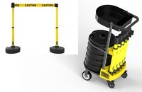 Banner Stakes Plus Yellow Barrier Set with Cart - BANNER STAKES PL4001T