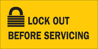 Brady B-302 Polyester Rectangle Yellow Lockout Sign - 4.5 in Width - Laminated - 88302