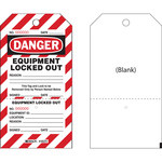 Brady CLT2 Black / Red on White Cardstock Lockout / Tagout Tag - 4 in Width - 7 1/2 in Height - B-853