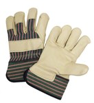 West Chester 5150 Green/Pink 3XL Grain Cowhide Leather Work Gloves - Wing Thumb - 11.5 in Length - 5150/XXXL