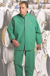 Dunlop Chemtex 71050 Green Large Nylon Polyester/PVC Chemical-Resistant Overalls - 30 in Inseam - 791079-12258