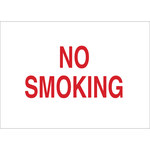 Brady B-120 Fiberglass Reinforced Polyester Rectangle White No Smoking Sign - 10 in Width x 7 in Height - 72022