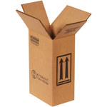 Shipping Supply Kraft 1 Gallon F-Style Boxes - 6.75 in x 4.3125 in x 10.375 in - SHP-2216