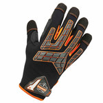 Ergodyne ProFlex Black Large Polyester Work Gloves - TPR Knuckles Coating - 760 LG