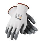 PIP MaxiFoam Premium 34-800 Gray/White Large Nylon Work Gloves - EN 388 1 Cut Resistance - Nitrile Palm & Fingers Coating - 9.3 in Length - 34-800/L