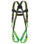 Miller E650QC Green Universal Vest-Style Back Padding Body Harness - Duraflex Webbing - 612230-17903
