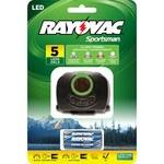 Rayovac Sportsman Headlamp - 70 Lumens 5 LEDs Red, White, Ultraviolet - (3) AAA 4 Modes - SPBTHL-B