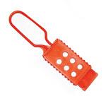 Brady Orange Nylon Lockout/Tagout Hasp 99668 - 1.75 in Width - 7 in Height - 6 Padlock Capacity - 754476-99668
