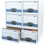 Shipping Supply STOR/DRAWER STEEL PLUS White File Storage Drawers - 24 in x 12 in x 10 in - SHP-2345