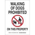 Brady B-555 Aluminum Rectangle White Pet Restrictions Sign - 7 in Width x 10 in Height - 123489