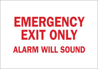 Brady B-302 Polyester Rectangle White Emergency Exit Sign - 10 in Width x 7 in Height - Laminated - 84665