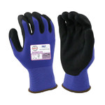 Armor Guys ExtraFlex HCT 04-008 Blue/Black Large Nylon Work Gloves - Nitrile Foam Palm & Fingers Coating - 04-008-L