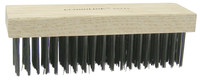 Weiler Steel Hand Wire Brush - 2 1/4 in Width x 7 1/4 in Length - 0.012 in Bristle Diameter - 25212