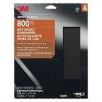 3M Wetordry Silicon Carbide Gray Sandpaper - 9 in Width x 11 in Length - Paper Backing - 800 Grit - Super Fine - 32035