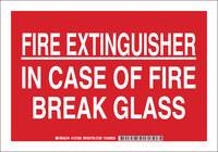 Brady B-555 Aluminum Rectangle Red Fire Equipment Sign - 10 in Width x 7 in Height - 127200