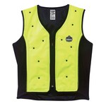 Ergodyne Chill-Its 6685 Lime Large Polyester/Polyurethane Cooling Vest - Fill vest with 13-20 oz water to activate - 720476-12674