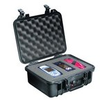Pelican Black Polypropylene Protective Hard Case - 13.37 in Overall Length - 11.62 in Width - 6 in Height - Lockable - 14000