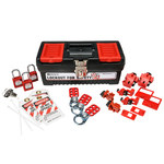 Brady Red on Black Lockout/Tagout Kit - 754476-03481