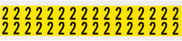 Brady 34 Series 3420-2 Black on Yellow Vinyl Cloth Number Label - Indoor - 9/16 in Width - 3/4 in Height - 5/8 in Character Height - B-498