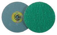 Weiler Coated Zirconium Quick Change Disc - Cloth Backing - 120 Grit - Fine - 2 in Diameter - 60384