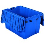 Akro-Mils Keepbox 12 gal 65 lb Blue Industrial Grade Polymer Attached Lid Container - 21 1/2 in Length - 15 in Width - 12 1/2 in Height - 39120 BLUE