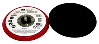 3M Hookit 20352 Hard Red Disc Pad - 5 in Diameter - 3/8 in Thick - External Thread Attachment