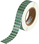 Brady RoHS-1-5 White on Green Polyester Inspection Label - 1.180 in Width - 0.4 in Height - B-8423