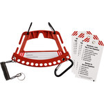 Brady 148866 RED Safety Lock and Tag Carrier - 7.75 in Width - 5.75 in Height - LOTO-88