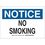 Brady Prinzing B-302 Polyester Rectangle White No Smoking Sign - 10 in Width x 14 in Height - Laminated - 47227