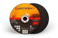3M Cubitron II Type-Q Ceramic Aluminum Oxide Quick Change Depressed Center Wheel - 5 in Dia - Thickness 1/4 in - 12,250 Max RPM - 64317