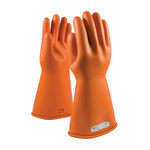 PIP Novax 147-1-14 Orange 9 Rubber Work Gloves - 14 in Length - Smooth Finish - 147-1-14/9