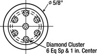3M CL7S1 Multi-Point Diamond Dresser - 1 in Length - 7/16 in Shank Diameter - 20789