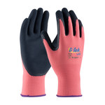 PIP G-Tek Lite 55-AG315 Black/Pink Large Latex Unsupported Chemical-Resistant Gloves - 9.8 in Length - Rough Finish - 55-AG315/L