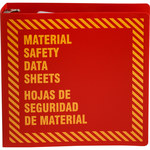 Brady Prinzing Yellow on Red MSDS & GHS Data Sheet Binder - MATERIAL SAFETY DATA SHEETS - English/Spanish - 754473-71177