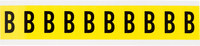 Brady 34 Series 3430-B Black on Yellow Vinyl Cloth Letter Label - Indoor - 7/8 in Width - 1 1/2 in Height - 1 in Character Height - B-498