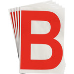 Brady Toughstripe 121699 Red Polyester Letter Label - Indoor - 6 in Width - 8 in Height - 8 in Character Height - B-514