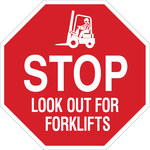 Brady B-555 Aluminum Octagon Red Truck & Forklift Warehouse Traffic Sign - 18 in Width x 18 in Height - 124510
