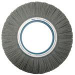 Weiler Silicon Carbide Wheel Brush 0.022 in Bristle Diameter 320 Grit - Shank Attachment - 12 in Outside Diameter - 85156