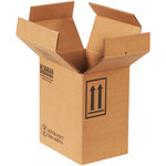 Shipping Supply Kraft 1 Gallon F-Style Boxes - 8.875 in x 6.625 in x 10.25 in - SHP-2217