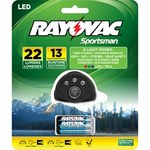Rayovac Sportsman Headlamp - 22 Lumens 5 LEDs Red, White, Blue, Green - (3) AAA 9 Modes - SPHLT3AAA-BD*