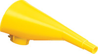 Eagle Yellow High Density Polyethylene Funnel - 9 in Length - 048441-22100