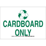 Brady B-555 Aluminum Rectangle White Recycle Sign - 10 in Width x 7 in Height - 129345