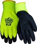 Red Steer A324 Black/Green Large Acrylic Work Gloves - Nitrile Over Dip Coating - A324-L
