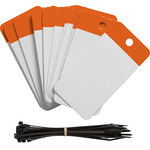 Brady 102014 Orange Polyester Blank Cable-Marking Tag - 3 1/4 in Width - 5 in Height - 01103